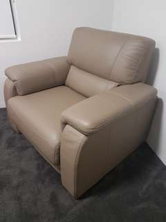 AS NEW leather arm chair