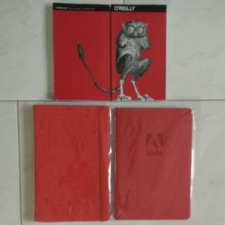 New! 4 Red writing books