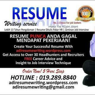 RESUME SERVICE FOR JOB SEEKERS