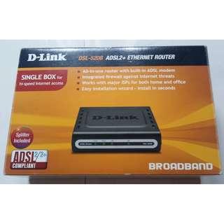 D-Link DSL-520B ADSL2+ Ethernet Router