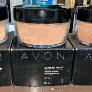 3x Avon Personal Match Smooth Mineral Makeup Powder - Bisque