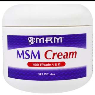 Ongoing: MSM cream (good for acne scars)
