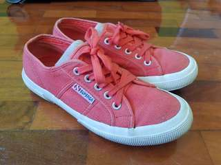 Original Superga Low Cut Red Shoes