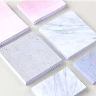 Marble Postit/ sticky note