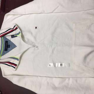 *Price Reduced* Tommy Hilfiger White Quarter Zip