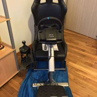 Playseat with wheel, pedal & gear set.