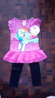 NEW** Little Pony Top and Leggings set 2Y