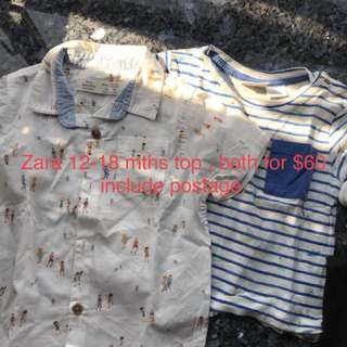 Zara tops 12-18mths