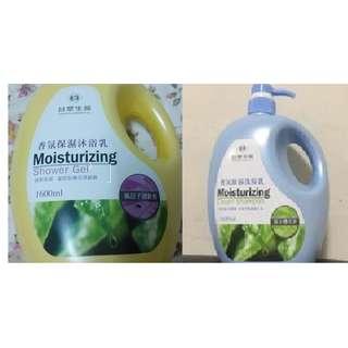 台塑生醫香氛保濕沐浴乳--洗髮乳1600ml組合