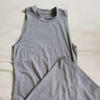 Grey halter bodycon maxi