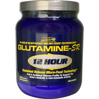 Maximum Human Performance, LLC, Glutamine-SR 12 Hour Sustained Release Micro-Feed Technology, Unflavored, 2.2 lbs (1000 g)