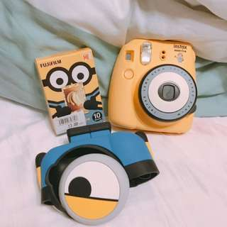 Instax Minion with original box, casing and free 1 box of Minion Polaroid