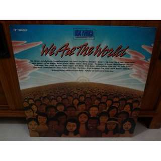 "We Are The World 12"" Single Vinyl LP Record"
