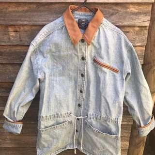 Vintage Denim Jacket/Coat Size 12 Blue Ridge Oversized