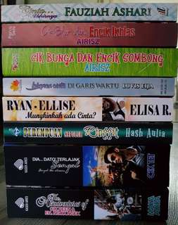 Malay Novel Bundle Deal (Cash & Carry only)