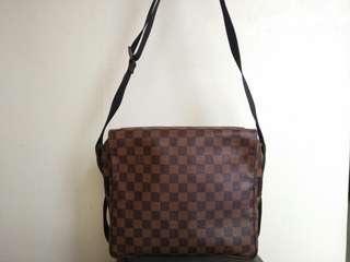 Authentic Louis Vuitton Damier Ebene Naviglio Messenger Bag