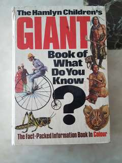 The Hamlyn Children's Giant Book of What Do You Know