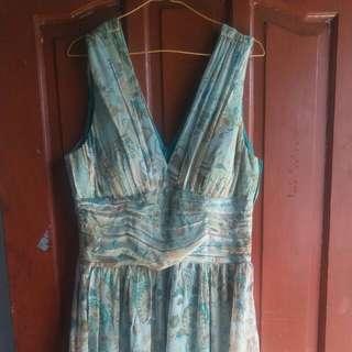 Dress vintage hijau fit to xl