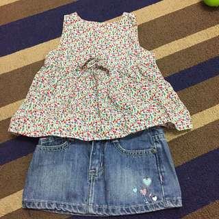 Mothercare top and Miki skirt