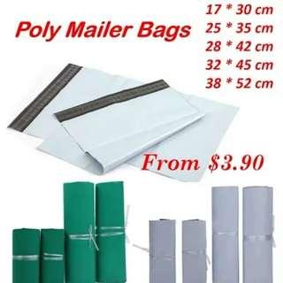 Polymailer 100pcs/Set White Green Logistics Courier Mailing Bag Envelope Shipping Self Adhesive Sea