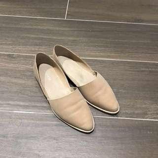 Jo Mercer Genuine Leather Flats (Nude)