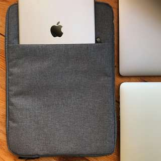 INSTOCKS PREMIUM Laptop Cover Sleeve With inner padding MacBook sleeve clutch bag light grey dark grey blue bag