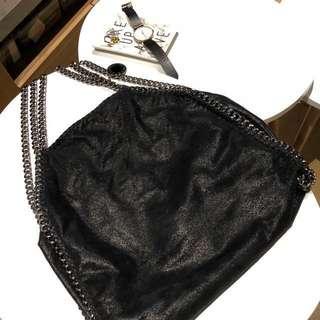 ONE DAY SALE! 💕Stella McCartney Fold-Over Falabella Tote Bag, Black (RRP $1,355)