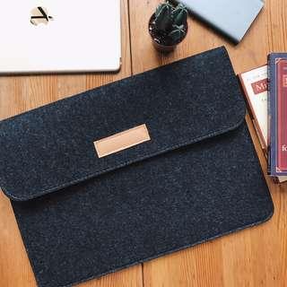 FREE POSTAGE INSTOCKS Laptop wool felt MacBook Mac Sleeve STYLISH FLAP SLEEVE for all laptop models bag