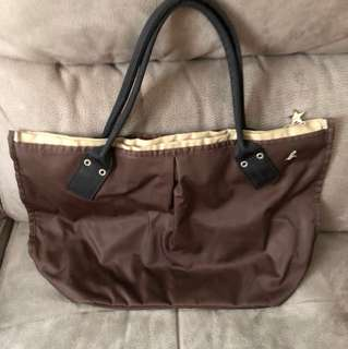 Agnes B brown color shoulder bag M size