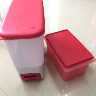 Tupperware Ricesmart/ Rice Container 10kg FREE Multi Keeper (Chinese new year Limited Edition free gift)