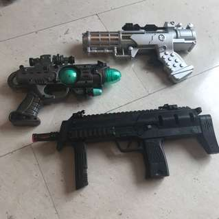 Various toy guns