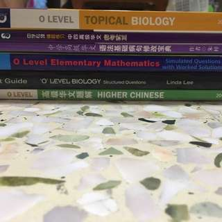 Biology, Chinese and E-maths Assessment Books