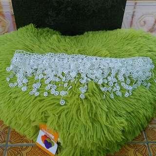 White Flower Lace Silk fringe