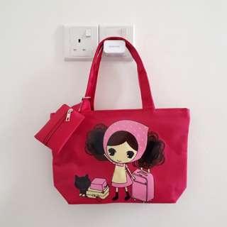 Cartoon pink bag