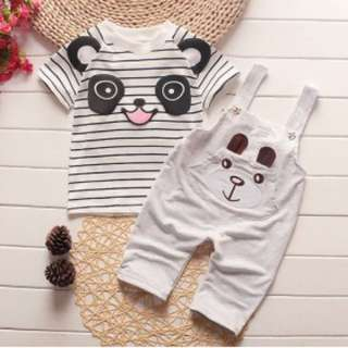 Grey Bear Shirt & Overall