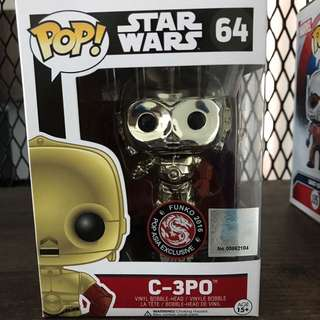 Funko Pop - C3PO metallic chrome POP ASIA exclusive