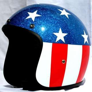 Captain America Style Open Face Helmet (Size XL)
