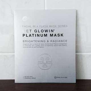 [BN] Skin Inc Get Glowin Platinum Mask Brightening & Radiance Facial in a Flash Mask