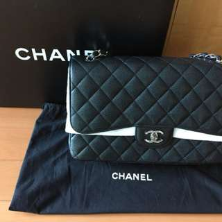 Chanel classic Jumbo size in calf leather