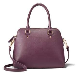 Brand New Leather Saffiano Dome Bag