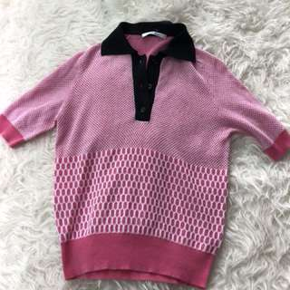 Carven Pink knit top sz 38