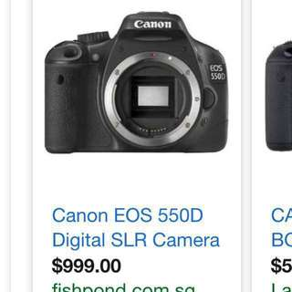 Canon camera EOS 550D. MOVING OUT SALE price nego