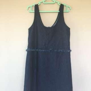 Fifth Label | Dark Blue Denim Frill Dress