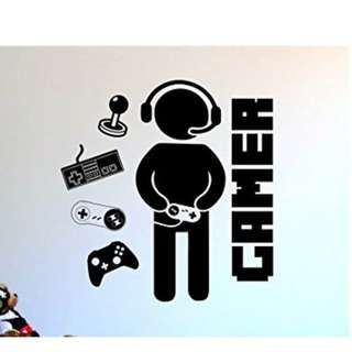 Wall Sticker Gamers - GAMER With Controller