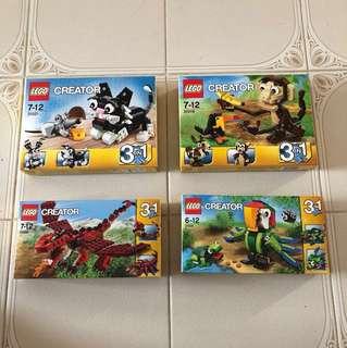 Lego 31021, 31019, 31032, 31031