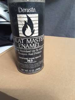 Heat Resistant Up to 600° F Paint. White Color.