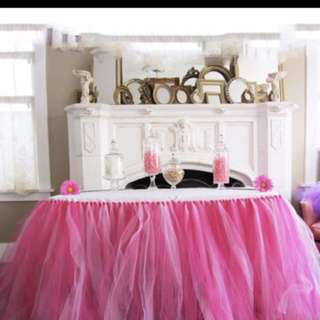 Shades of Pink Tutu Table Skirting