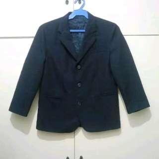 MA75 Van Heusen Dark Blue Blazer /Coat (Flaw one Button)