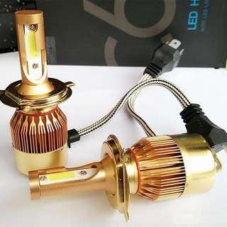 Car H4 COB LED Headlight kit C6 Black Edition Global Headlights Bulb dual color