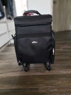 Professional makeup artist luggage trolley